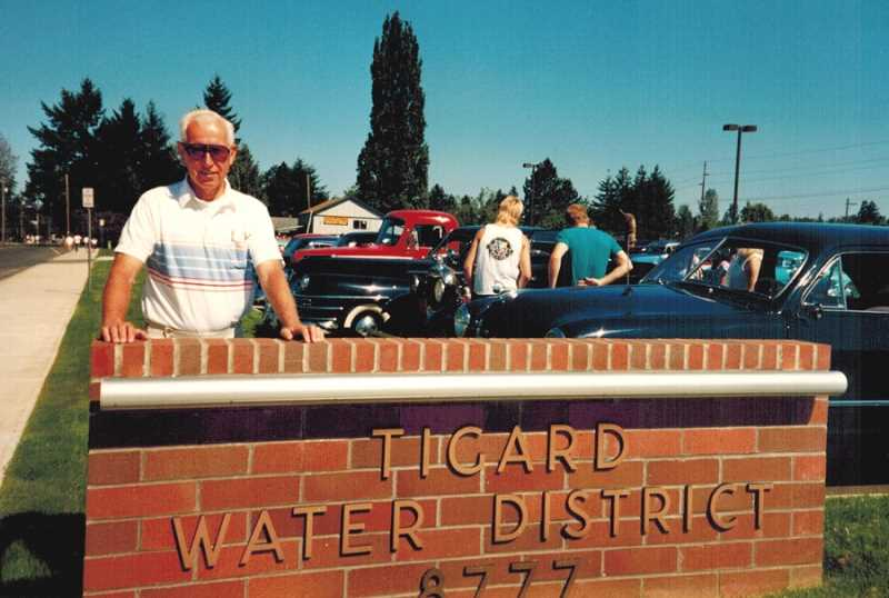 COURTESY OF BOB SANTEE - Bob Santee, who served as the Tigard Water District administrator/engineer for 20 years, was on the job when the headquarters at Hall Boulevard and Burnham Street was built.