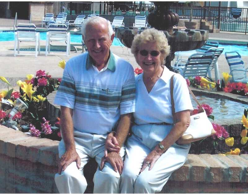 COURTESY OF BOB SANTEE - Bob and Mary Ann Santee posed for a photo while enjoying time in Southern California.