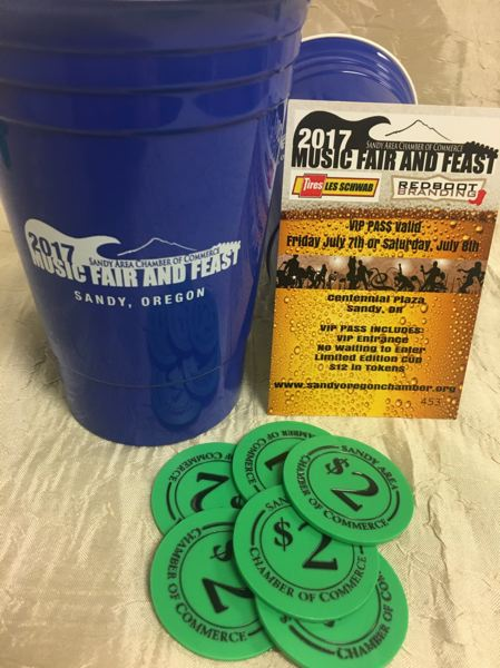 CONTRIBUTED PHOTO - Pre-sold tickets gain you VIP (skip the line) entry into this year's Music Fair and Feast, and get you a commemorative cup and 12 food and drink tokens, all for $15.