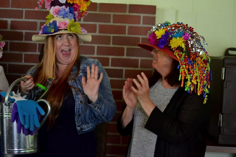 POST PHOTO: BRITTANY ALLEN - Gardening supplies were the prize for best hat.