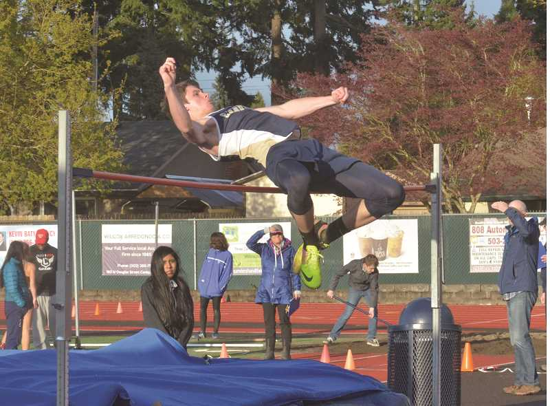 HERALD FILE PHOTO: COREY BUCHANAN - Canby senior Ethan Dawson-Hurley qualified for state in the high jump.