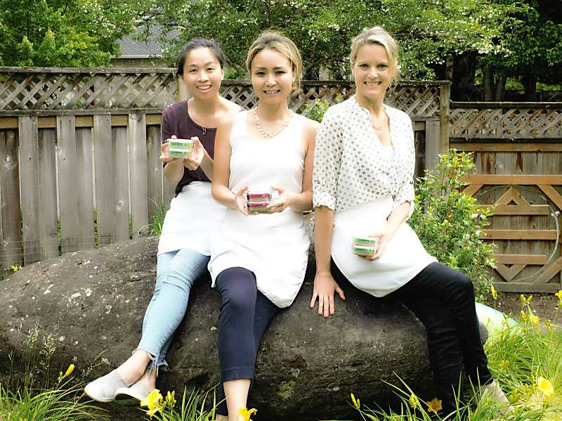 From left, Bella Lin, Sarah Wang and Michelle Posey are partners in GoodMoon LLC, which makes nutritious and delicious adzuki bean bars.