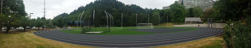 PAMPLIN MEDIA GROUP: JOSEPH GALLIVAN - The track and field portion of the project is completed.