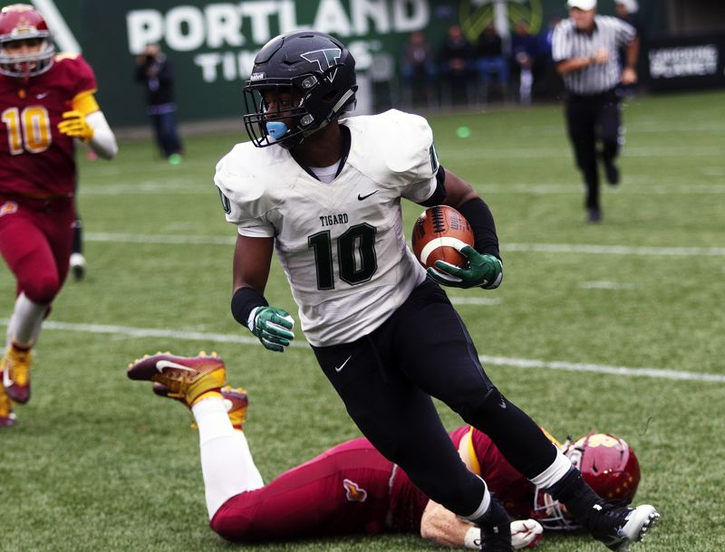 DAN BROOD - Tigard's Jash Allen will play at running back for the South team in Saturday's Les Schwab Bowl. Tigard's Brock Klosterman and Ryan Minniti, and Tualatin's Jared Ellisen, will also play in the all-star contest.