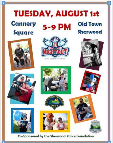 National Night Out is set for Aug. 1