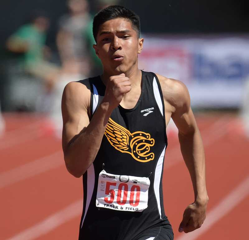 LON AUSTIN/CENTRAL OREGONIAN - Victor Ramirez finished second at state in the 100. Ramirez also ran on the Cowboy' 4x100 and 4x400 relay teams as well as in the 400.