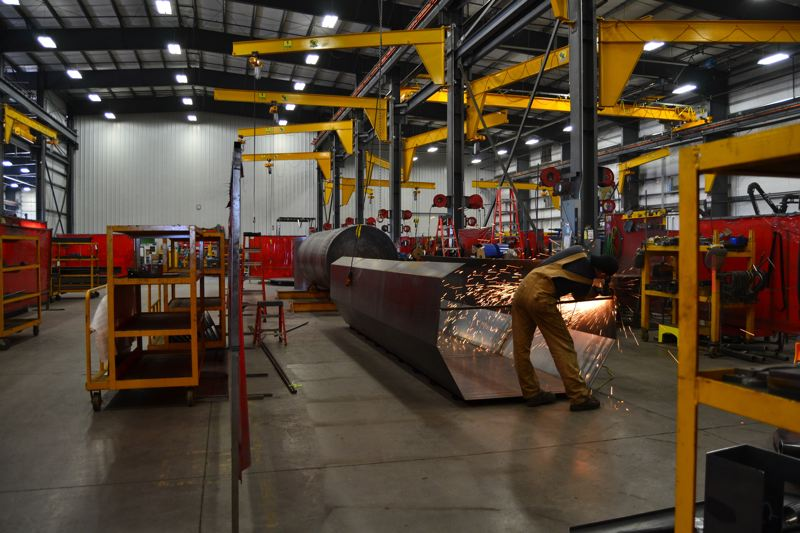 PAMPLIN MEDIA GROUP: JULES ROGERS - GK expanded for the third time in 2015, and its warehouses now total more than 175,000 square feet for welders, assemblers, laser technicians, engineers, painters and machiners to fabricate and repair all types of agricultural equipment.
