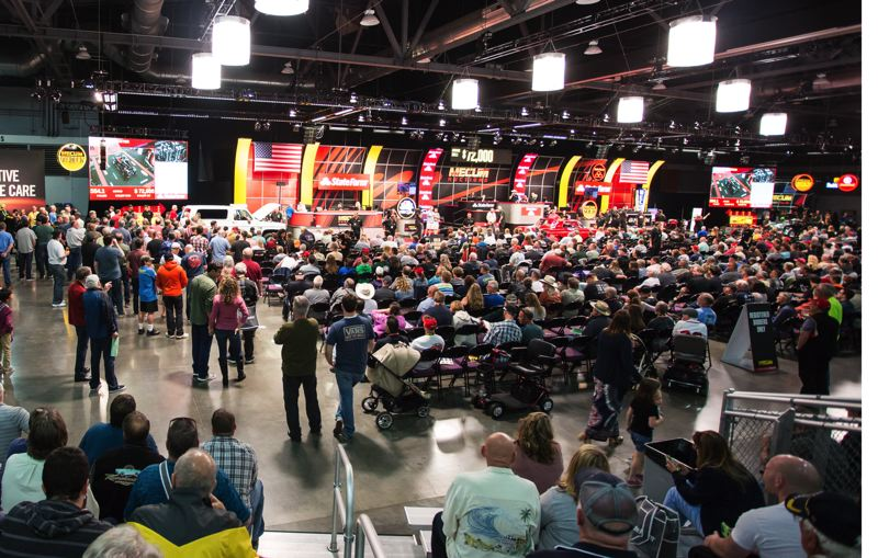 COURTESY MECUM AUCTIONS - Mecum Auctions rented all four halls at the Expo Center to store the 461 cars that went across the block, resulting in sales of $7.9 million.