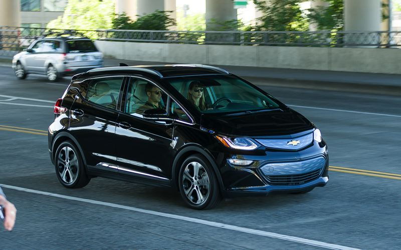 DOUG BERGER/NWAPA - The 2017 Chevy Bolt Ev was named Northwest Green Car of the Year at the most recent Drive Revolution in Portland.