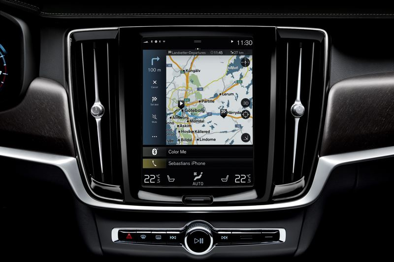 VOLVO CAR COMPANY - The large swipe screen that controls the infotainment system in several new Volvos requires a little practice to master, but provides a wealth of information.