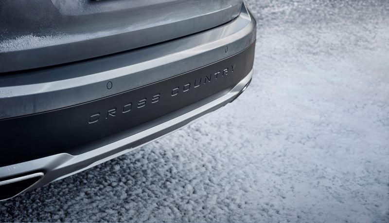 VOLVO CAR COMPANY - Greater clearance and distinctive badging help separate the Cross Country from other Volvo V90 wagons.