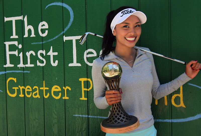 REVIEW PHOTO: MILES VANCE - Tya Seth, an incoming senior at Lake Oswego High School, is not only a talented golfer herself, but a longtime volunteer with The First Tee of Portland and recent winner of the Play It Forward award at the Oregon Sports Awards.