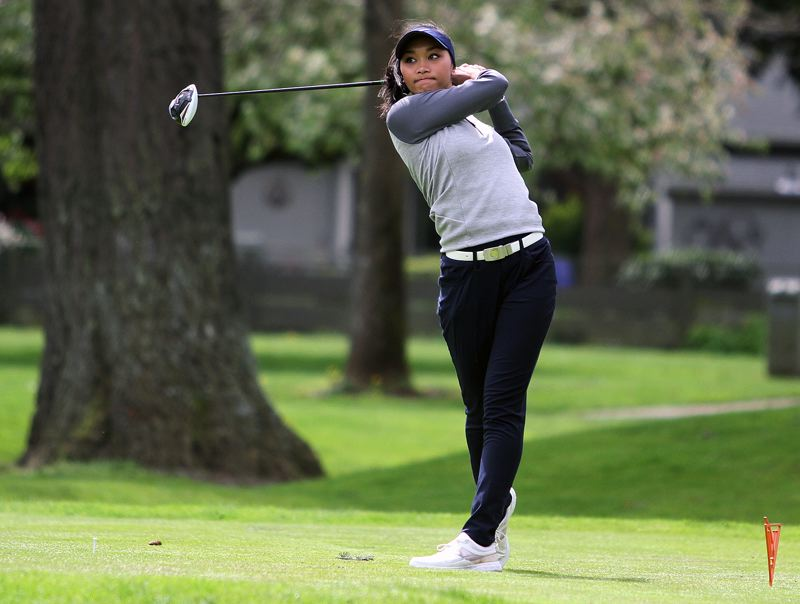 REVIEW FILE PHOTO - Lake Oswego's Tya Seth not only volunteers to teach youngsters golf and life lessons, shes a standout player herself, placing 11th at the 2017 Class 6A state tournament.