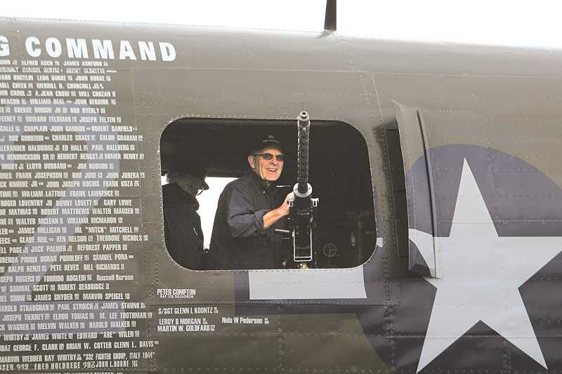JULIA COMNES - Visitors were given the opportunity to tour the interiors of the World War II aircraft, including the pictured B-25 Mitchell bomber called Tondelayo.