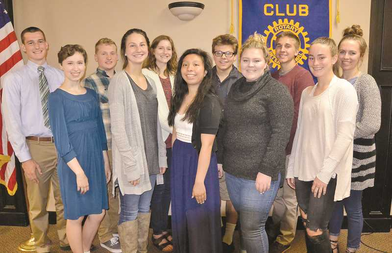 SUBMITED IMAGE - The Canby Rotary Foundation awarded 20 scholarships totaling $24,700 for the coming school year.