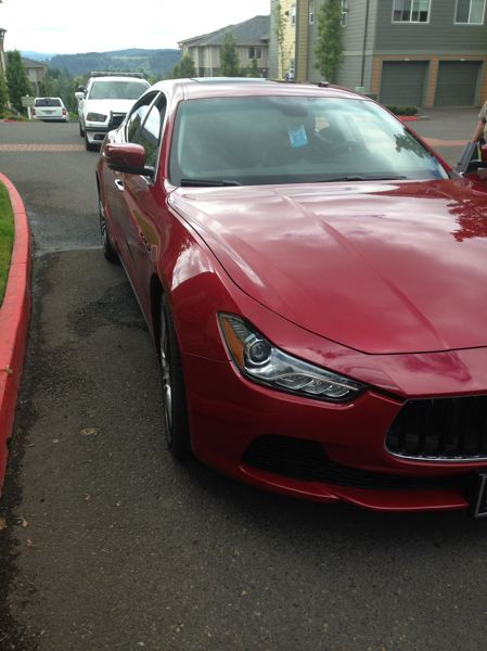 PHOTO COURTESY: CCSO - Police recover a stolen 2016 Maserati Ghibli near Southeast 147th Ave and Misty Drive in Happy Valley.