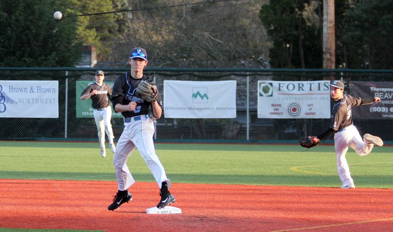 REVIEW FILE PHOTO - Lakeridge's Hayden Moore and his Pacer teammates kick off the 2017 Firecracker Classic tournament when they host Columbia River at 6:30 p.m. Thursday at Abramson Field.