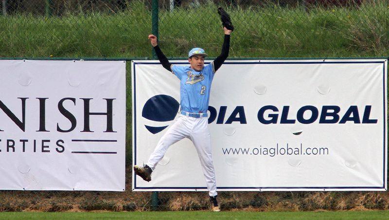 REVIEW FILE PHOTO - Lakeridge's Colin Hardy and the Pacers are hoping to make more big catches like this one when they host the 2017 Firecracker Classic tournament, which opens Thursday and continues through Sunday at Lakeridge High School.