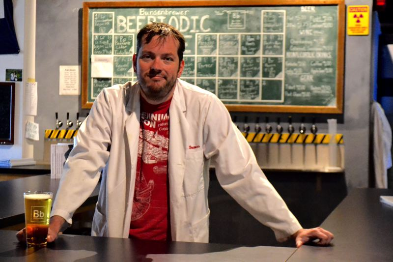 POST PHOTO: BRITTANY ALLEN - Aaron Hanson opened Bunsenbrewer in 2013 to provide a local flavor to Sandy's beer scene.