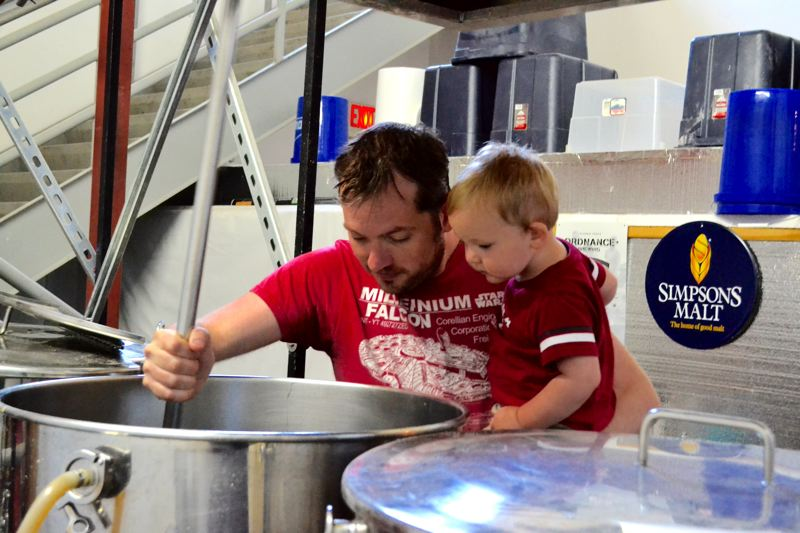 POST PHOTO: BRITTANY ALLEN - Hanson says caring for his 1-year-old son Newton makes dedicating time to brewing difficult.
