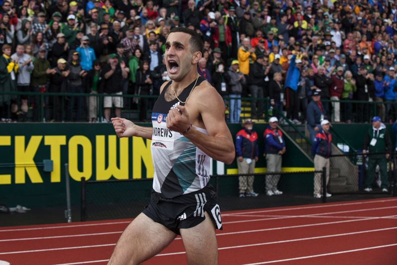COURTESY: TRACKTOWN PHOTO/JOSH PHILLIPS - After winning the U.S. championship in the 1,500 meters, Robby Andrews comes to Mt. Hood Community College on Sunday looking for world championships qualifying time.