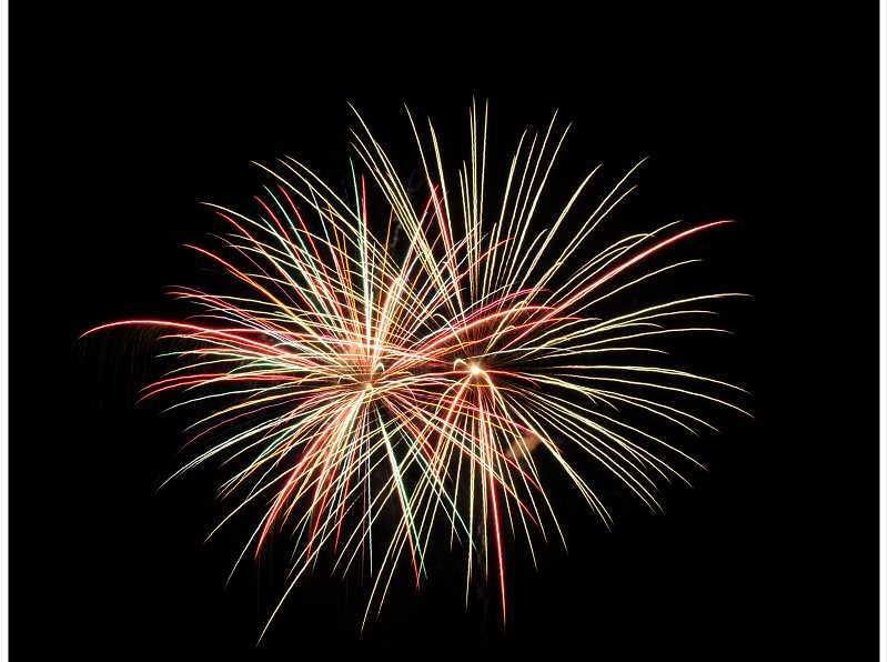 PHOTO BY TOM BROWN - Fireworks over Madras.