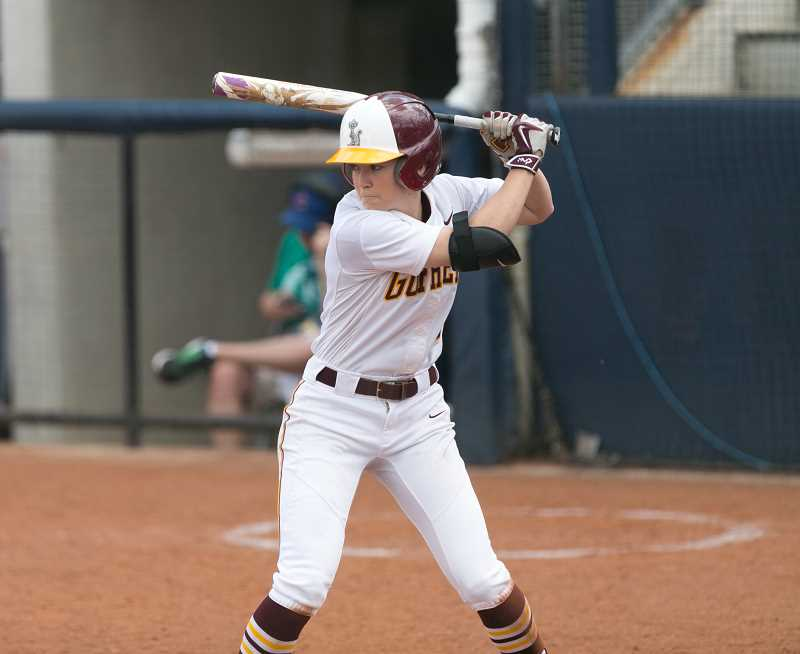 UNIVERSITY OF MINNESOTA ATHLETICS PHOTO - Banks native Makenna Partain prepares to hit during a game at Minnesota this past season.