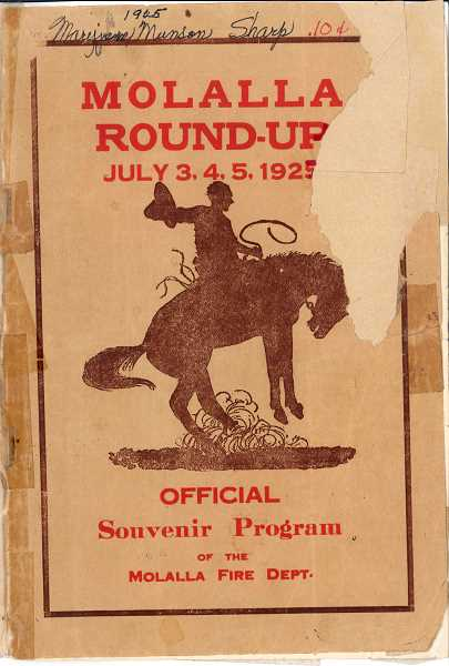 1925 Molalla Round-Up program cover