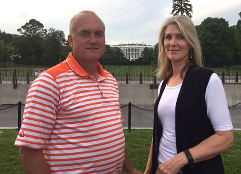 CONTRIBUTED PHOTO - Rob Nielson and his wife Kathy pose for a photo on a recent trip to Washington D.C.