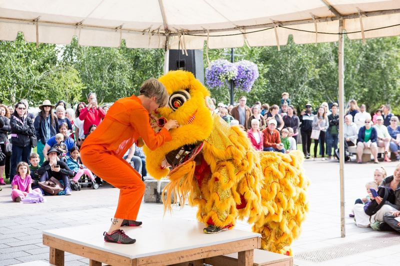 COURTESY PHOTO - Northwest Dragon and Lion Dance Association will kick off Beaverton's ninth annual Ten Tiny Dances July 8.