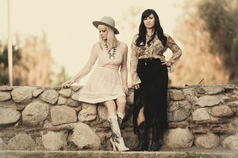 CONTRIBUTED PHOTO: KELLY ELAINE GARTHWAITE - Manda Mosher and Kirsten Proffit  make up the band CALICO. The duo will play at the Estacada Timber Festival on Tuesday, July 4.