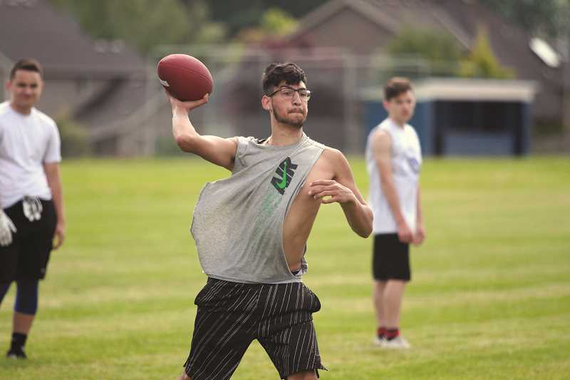 PHIL HAWKINS - Woodburn senior quarterback Hunter Conlon returns behind center after taking his lumps as a first-year starter in 2016. Head coach Nick Federico has commented that Conlon's growth and maturity has been huge this offseason, and he'll be looked to as a leader this fall.