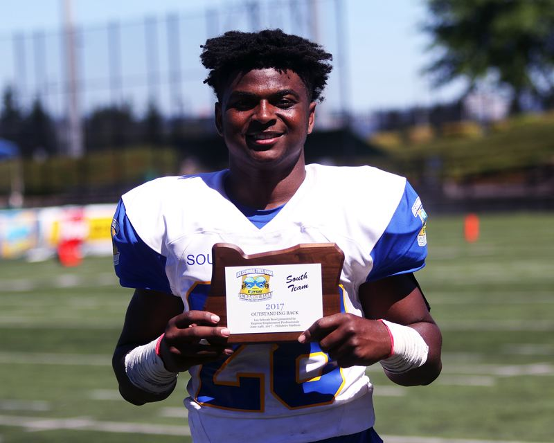 DAN BROOD - Tigard's Jashua Allen was named the Back of the Game for the winning South team.