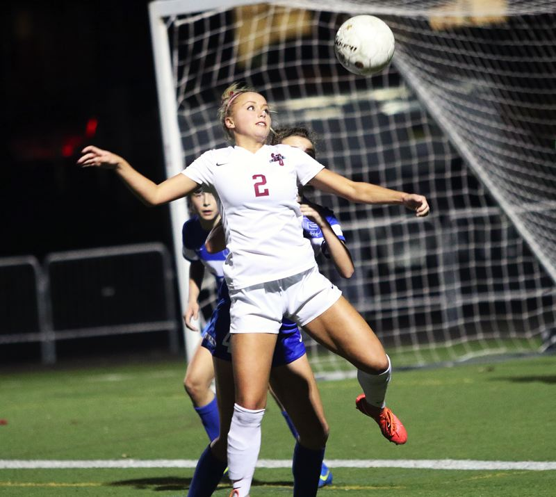 DAN BROOD - Kaillen Fried, a 2017 Sherwood High School graduate, shown here in a state playoff game this past fall, was named the Female Prep Soccer Player of the Year at the Oregon Sports Awards. Fried had previouly been named the Class 6A Player of the Year and the Gatorade Player of the Year for the state of Oregon.