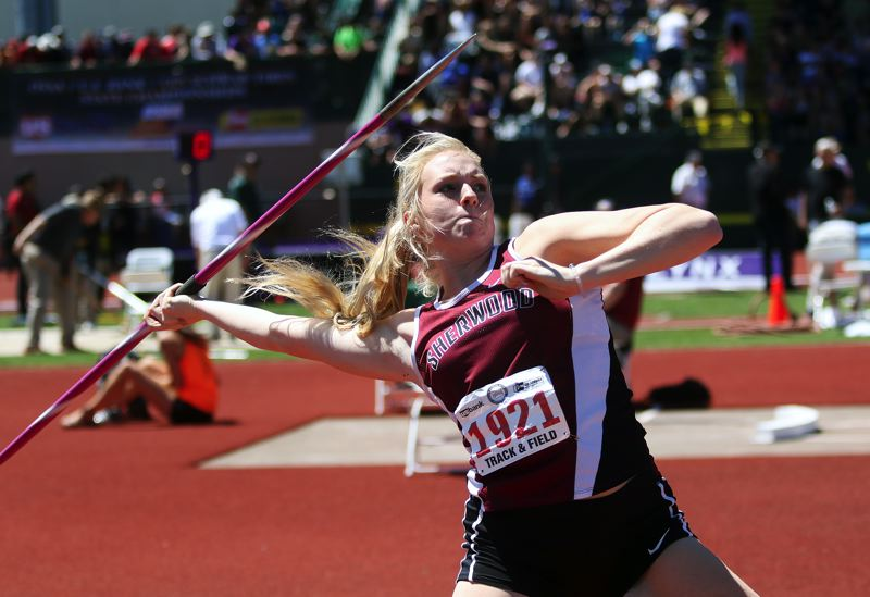 DAN BROOD - Calahan Crawford took sixth place in the javelin event at the Class 6A state track meet, and she also was a rebounding machine for the Lady Bowmen girls basketball team.
