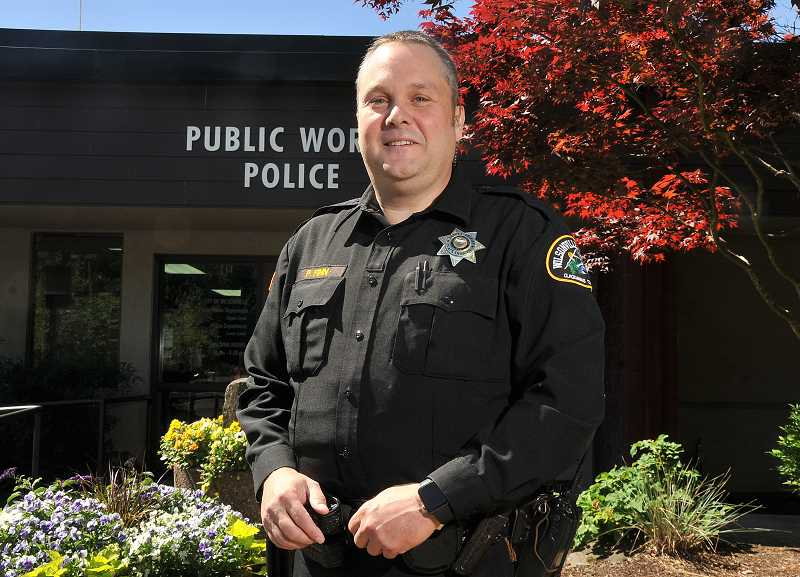 SPOKESMAN: VERN UYETAKE - Patrick Finn is leaving law enforcement after nearly 30 years, three years of that as a school resource officer in Wilsonville.