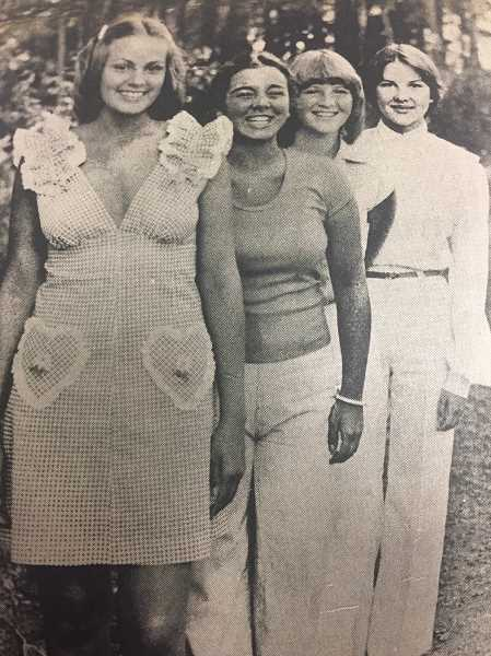 ARCHIVE PHOTO - In 1977, Irene Cordell, Kelly Stapleton, Mary Cole and Miriam Beguilin were appointed to the Timber Festival court, which had returned that year after a hiatus.