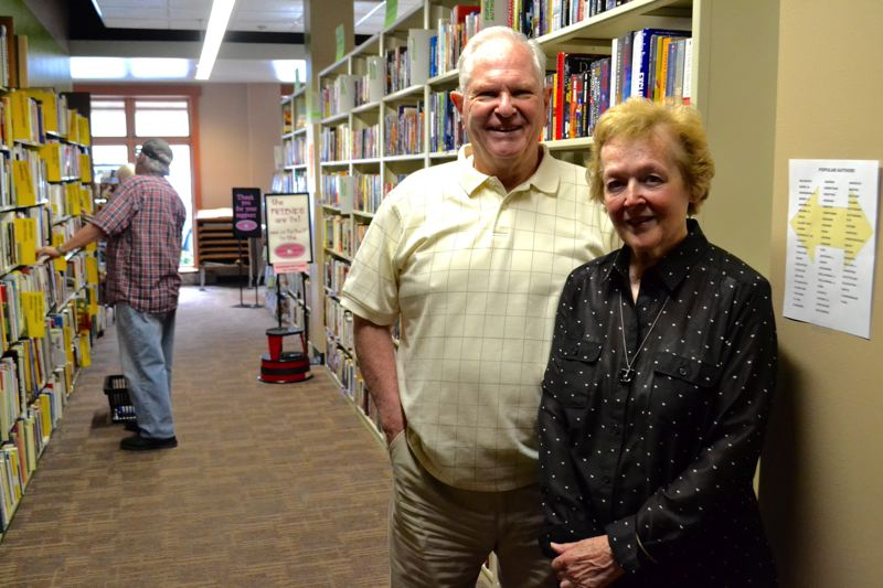 POST PHOTO: BRITTANY ALLEN - George and Colleen Hoyt have volunteered with Friends of the Library for more than two decades.
