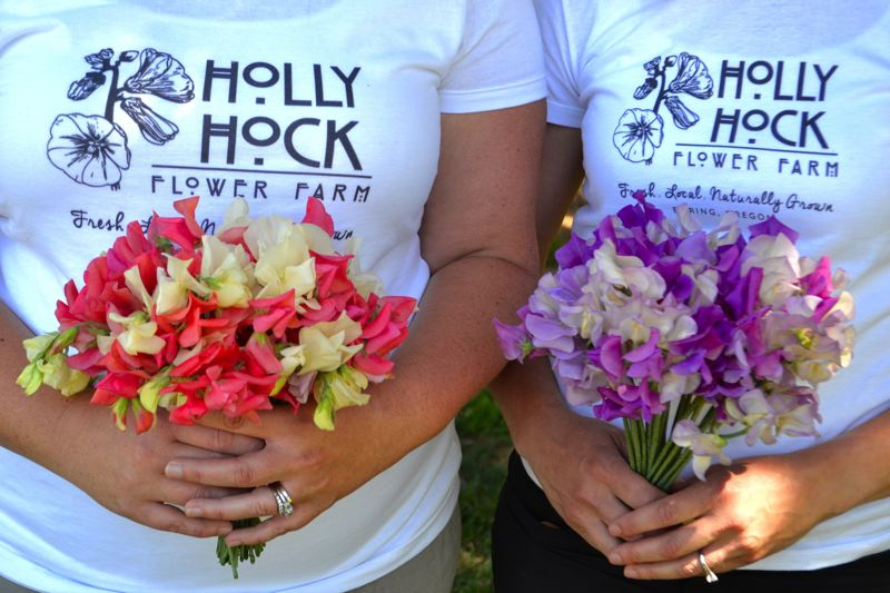 POST PHOTO: BRITTANY ALLEN - Aaron Younger and Nicole Walker named their flower business Hollyhock after the flower's reputation for representing 'female ambition' and friendship between women.