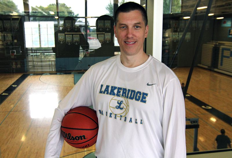 REVIEW PHOTO: MILES VANCE - Jason Brown was hired two weeks ago as the head coach of the Lakeridge High School girls basketball program.