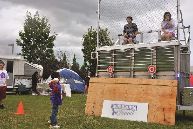 INDEPENDENT FILE PHOTO - The event includes fundraising activities throughout its 18-hour duration, such as this dunk tank from last year.