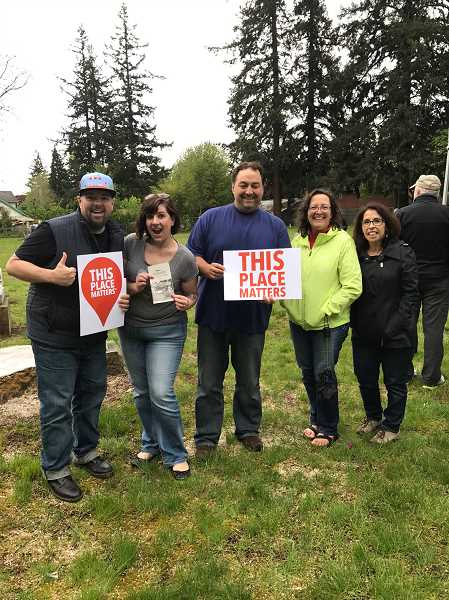 SUBMITTED PHOTO - Those who joined in the rehabilitation project on May 5 were (from left) Chris Waffle, Sarah Spoon, Brian Hodson, Liz Belz-Templeman and Mindy Monteccuco.