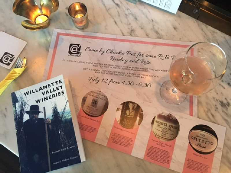 Lisa Shaw Ryan, owner of Chuckie Pies, invites all to attend a Reading and Rose event at Chuckie Pies Wednesday, July 12 from 4:30-6:30 p.m. Enjoy gourmet pizza, a flight of rose wines and learn about Randall's book.