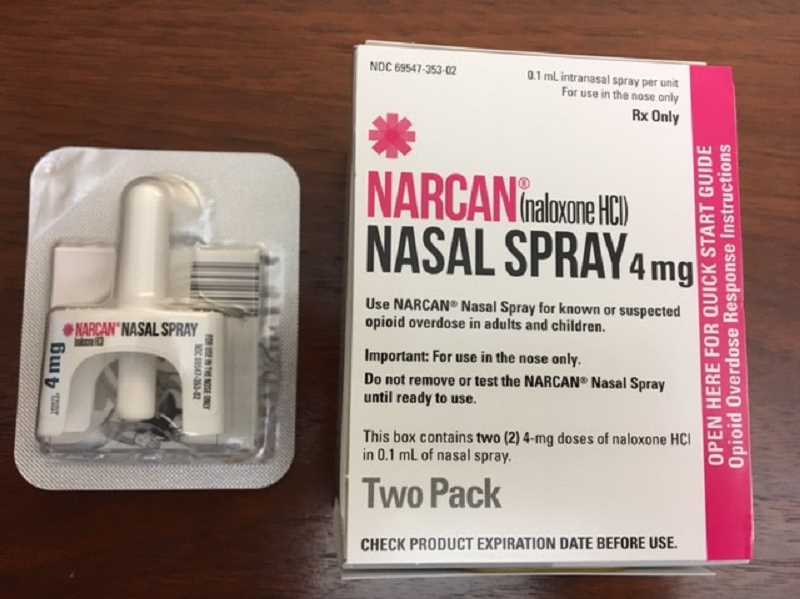 COURTESY PHOTO: CITY OF WOODBURN - All sworn Woodburn Police Department officers carry the anti-opioid spray known commercially as Narcan. On July 3, Woodburn officers helped revive a man's life using the medication.