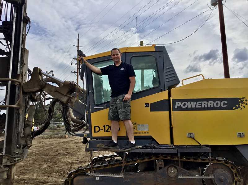 SUBMITTED PHOTO - Ryan Dean poses at the Copper Ridge RV construction site.