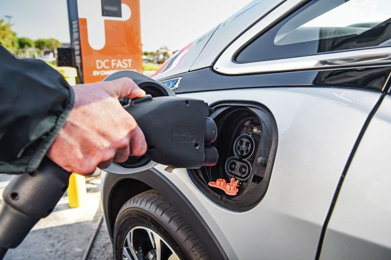 COURTESY GENERAL MOTORS CORPORATION - The 2017 Oregon Legislature wants to encourage more people to drive elecrified vehicles, like the 2017 Chevy Bolt EV shown being charged here.