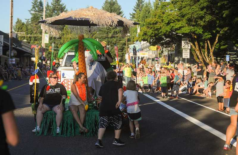 POST PHOTO: JOSH KULLA - The Sandy Mountain Festival Parade was held Thursday evening under near-perfect conditions, as thousands gathered along Highway 26 in downtown Sandy for the fun.