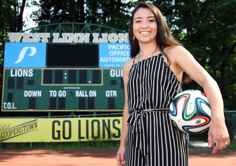 TIDINGS PHOTO: MILES VANCE - Lauren Pyrch, a 2011 West Linn graduate and a former Lions player, was hired in late June to lead the West Linn varsity girls soccer team.