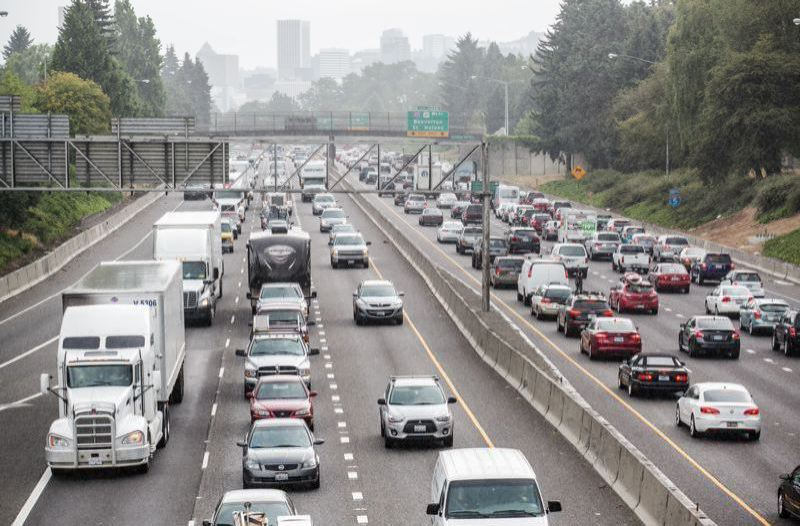 FILE PHOTO - Traffic in Portland.