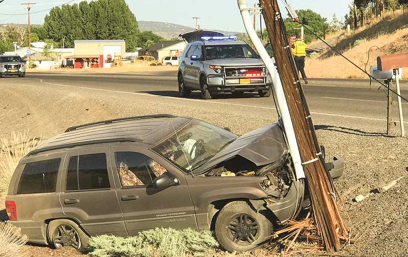 JASON CHANEY - The vehicle crash shown caused about 1,000 Pacific Power customers to lose power.